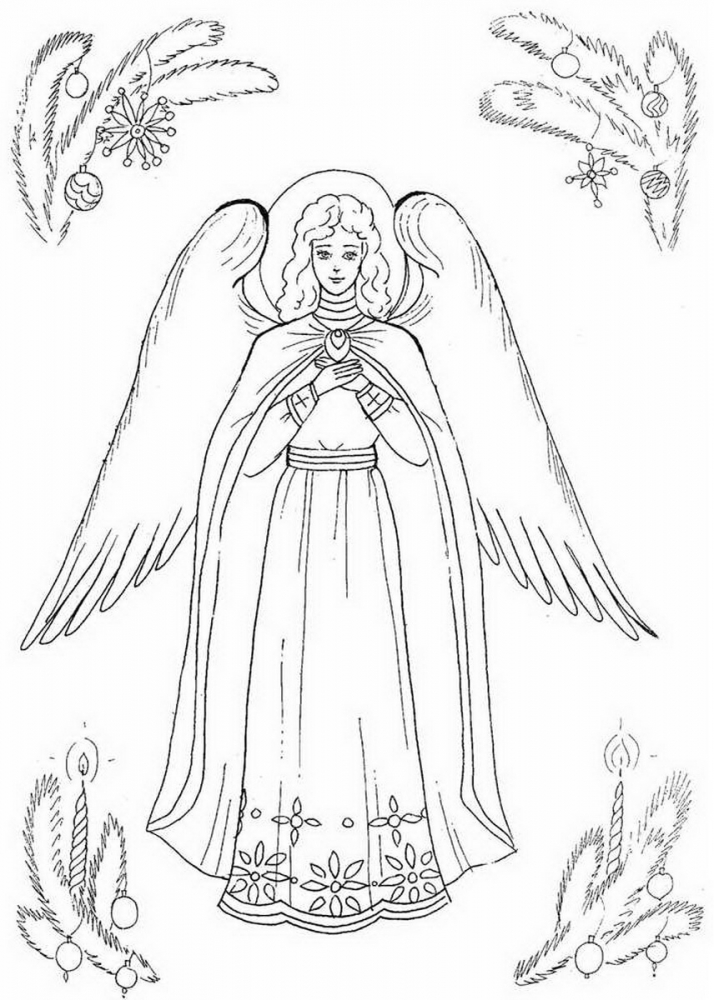 Рисунок ангела хранителя для ребенка